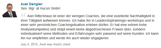 Executive Coaching Referenz